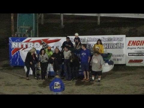 Flinn Stock feature Race at Crystal Motor Speedway, Michigan on 09-04-16.