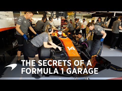 The secrets of a Formula 1 garage
