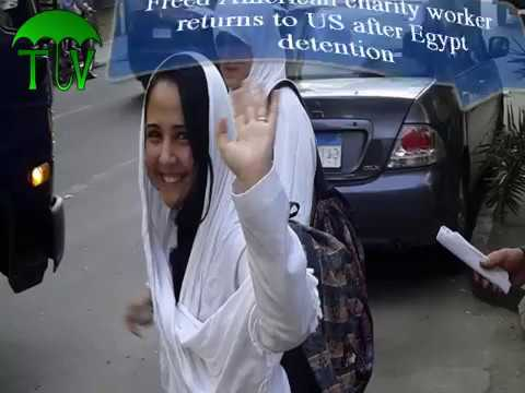Freed American charity worker returns to US after Egypt detention