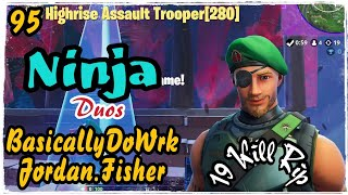 Ninja Duos BasicallyDoWrk & Jordan.Fisher - Garrison Skins Fortnite Game Play