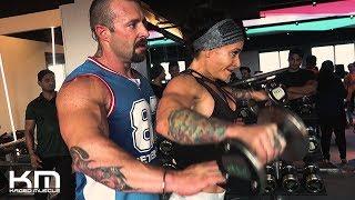 Shoulder Workout With Ashley Horner And Kris Gethin