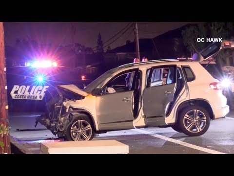 Woman arrested on suspicion of DUI in fatal Costa Mesa crash