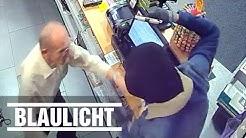 Überfall auf Lotto-Laden - Überwachungsvideo zeigt den Täter