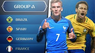 What if the WORLD CUP Groups Were RANDOMIZED?! - FIFA 18 Career Mode World Cup