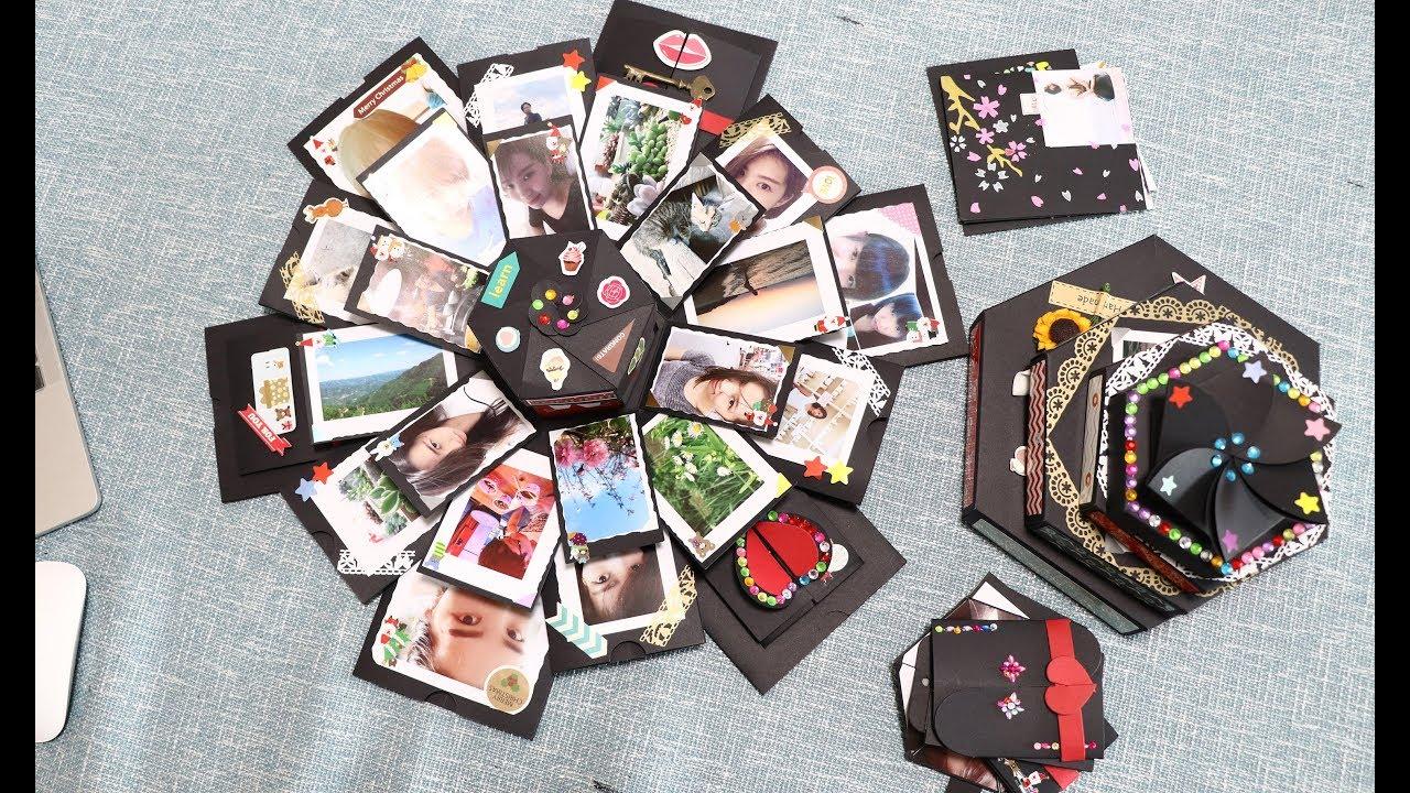 Five layers explosion gift box/ DIY handmade gift ...
