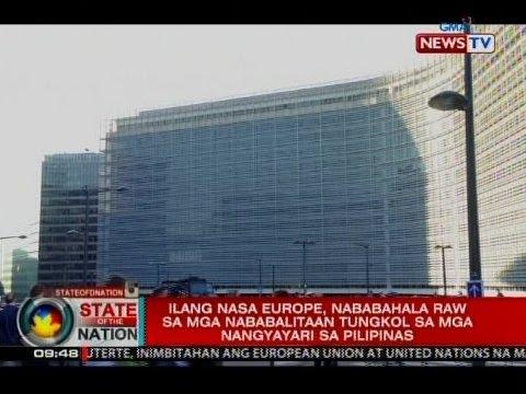 Ilang nasa Europe, nababahala raw sa mga nababalitaan tungkol sa mga nangyayari sa Pilipinas