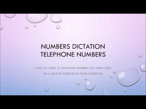 Dictation Phone Numbers