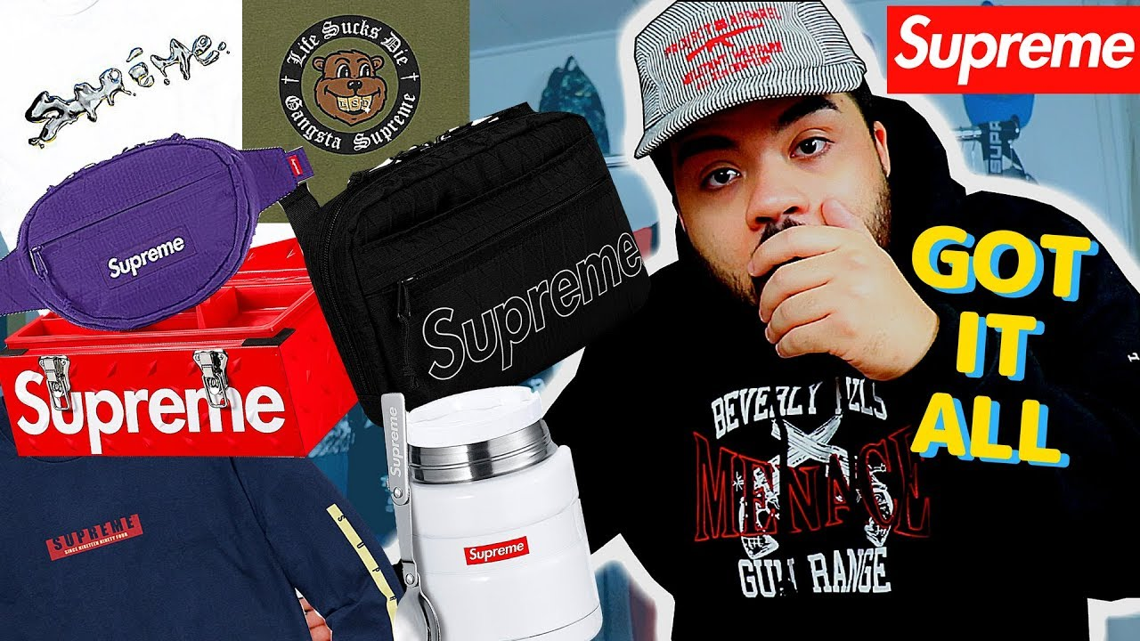 c03a642f2 SUPREME Fw18 Week 1 LIVE COP! I GOT EVERYTHING!! (Manual Checkout ...