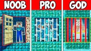 Minecraft NOOB vs PRO vs GOD : UNDERWATER PRISON ESCAPE in Minecraft ! AVM SHORTS Animation