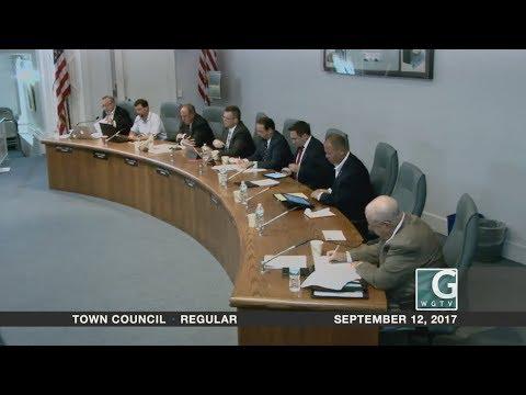 Town Council - Regular Meeting - September 12, 2017