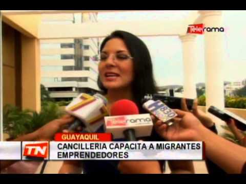 Cancillería capacita a migrantes emprendedores