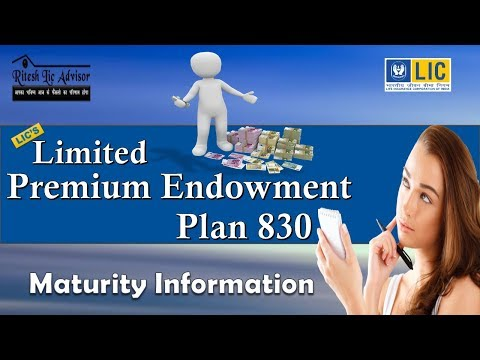 Limited Payment Endowment Plan 830 (Maturity Information)