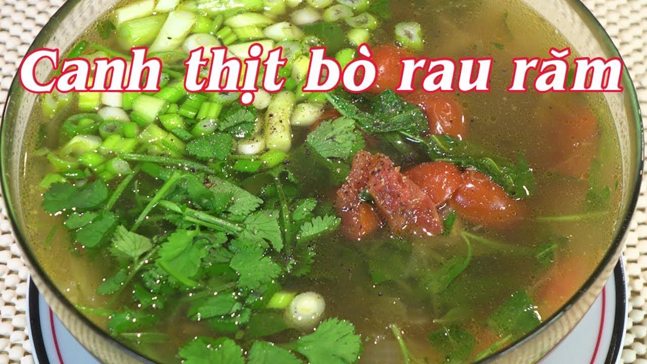 CANH THỊT BÒ RAU RĂM – Cách nấu Canh Thịt Bò Rau Răm Giàu Chất Dinh Dưỡng – By Nguyễn Hải
