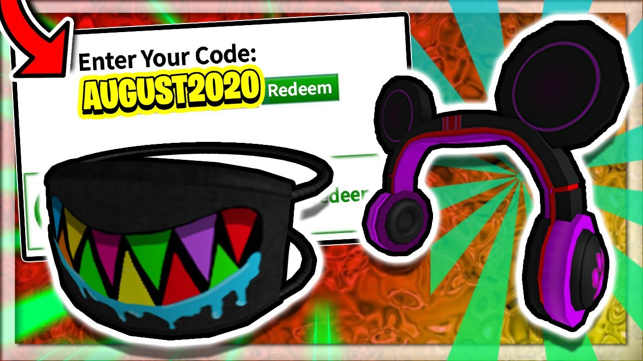 August July 2020 All Roblox Promo Codes New Free Items Youtube