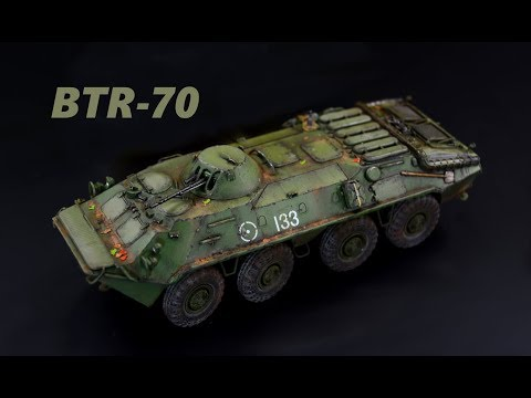 BTR 70 - 1/72 Trumpeter - Armored Fighting Vehicle Model