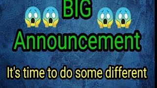 Big Announcement in Our channel😱😱/let's do some different guys/Hope you support to complete this|