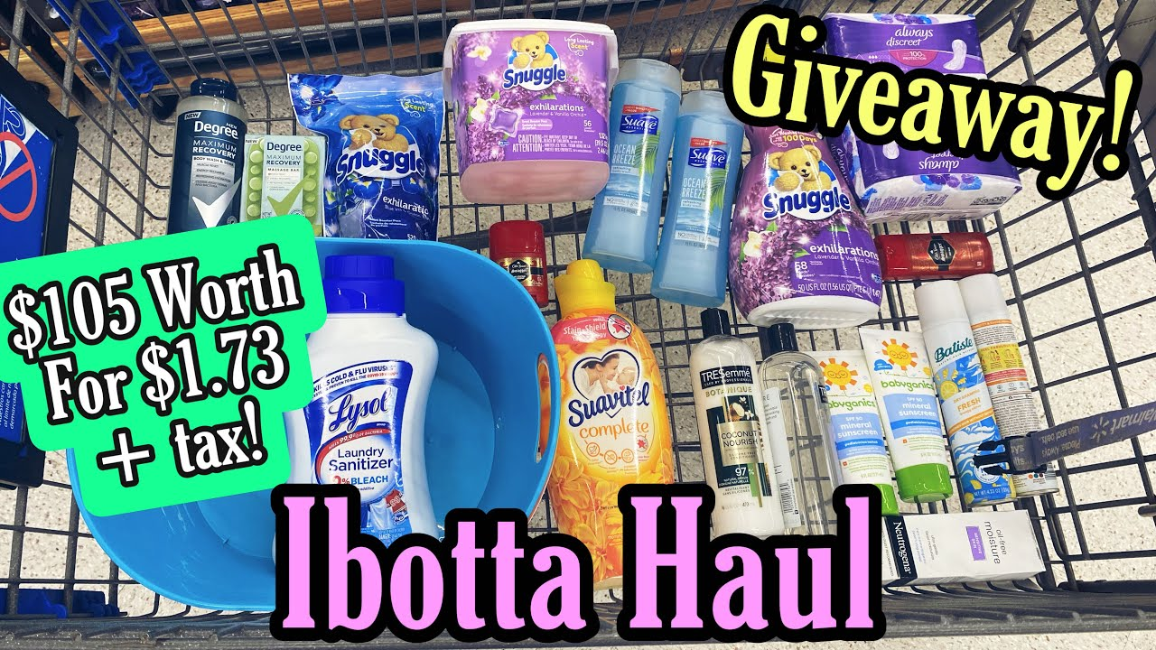Walmart Ibotta Haul - $105 Of Products for $1.73! 7/18-24/21