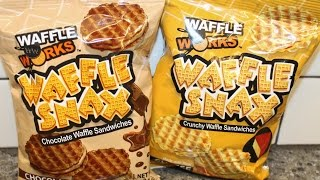 Waffle Works Waffle Snax: Chocolate And Cheese Waffle Sandwiches Review
