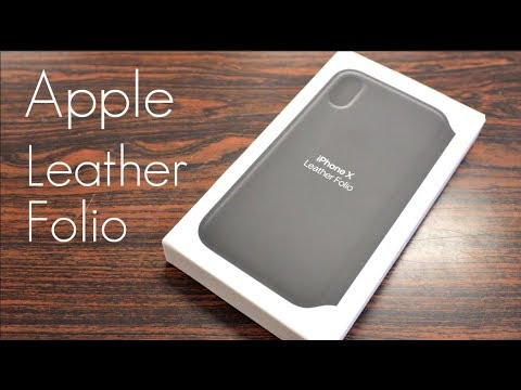 Apple's Official Overpriced Leather Folio Case! – iPhone X – Review / Demo