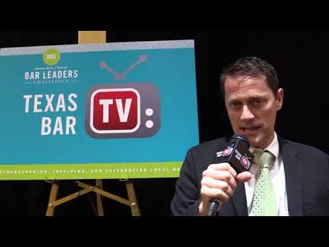 Marco Hanson at State Bar of Texas 2017 Bar Leaders Conference