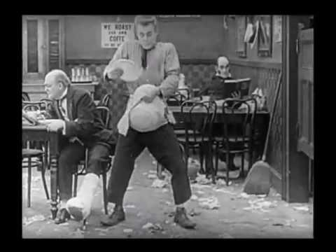 Fatty Arbuckle   Messy Restaurant   The Waiters' Ball 1916