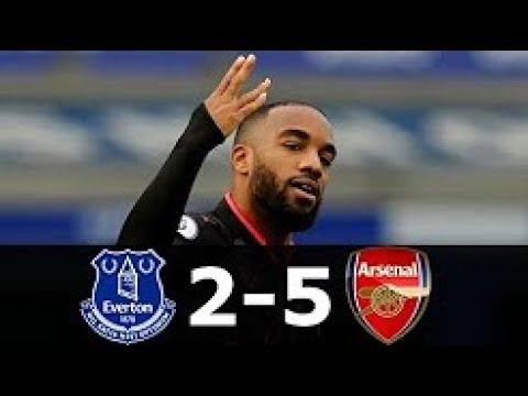 Arsenal vs Everton 5-2 Highlights & Goals - 22 October 2017