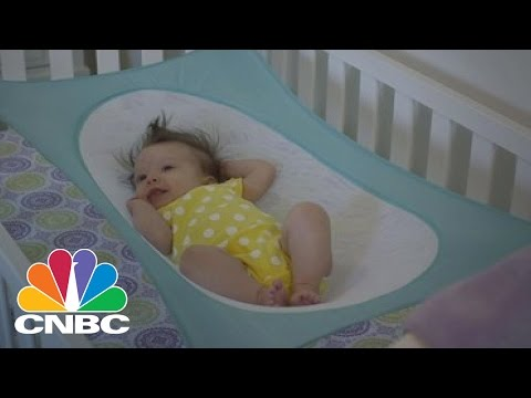 crescent womb baby hammock mimics womb and helps reduce risk of sids   cnbc crescent womb baby hammock mimics womb and helps reduce risk of      rh   youtube