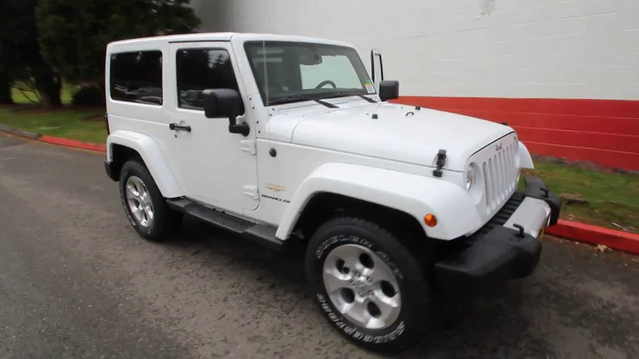2014 jeep wrangler sahara bright white el224789 seattle. Cars Review. Best American Auto & Cars Review