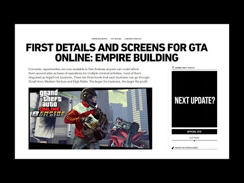 """Next Update Themed """"Empire Building"""" Business?"""