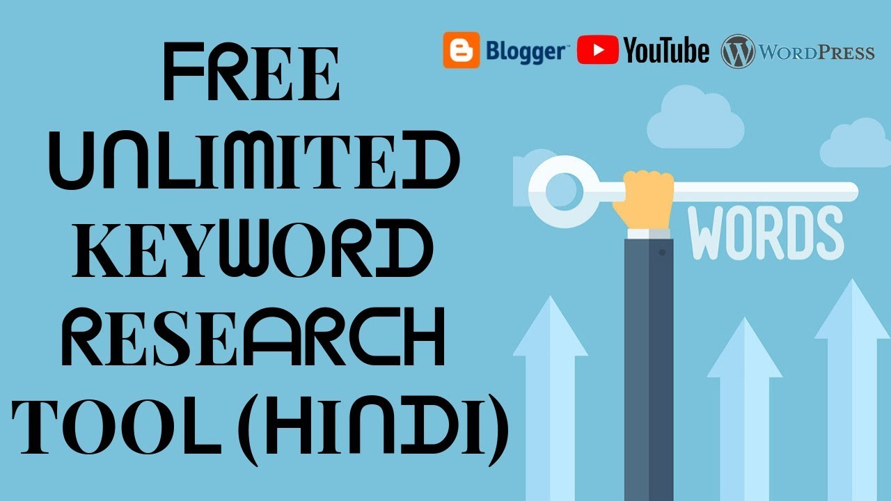 Best Free unlimited online keyword research seo tools for your blogger wordpress & youtube 2019
