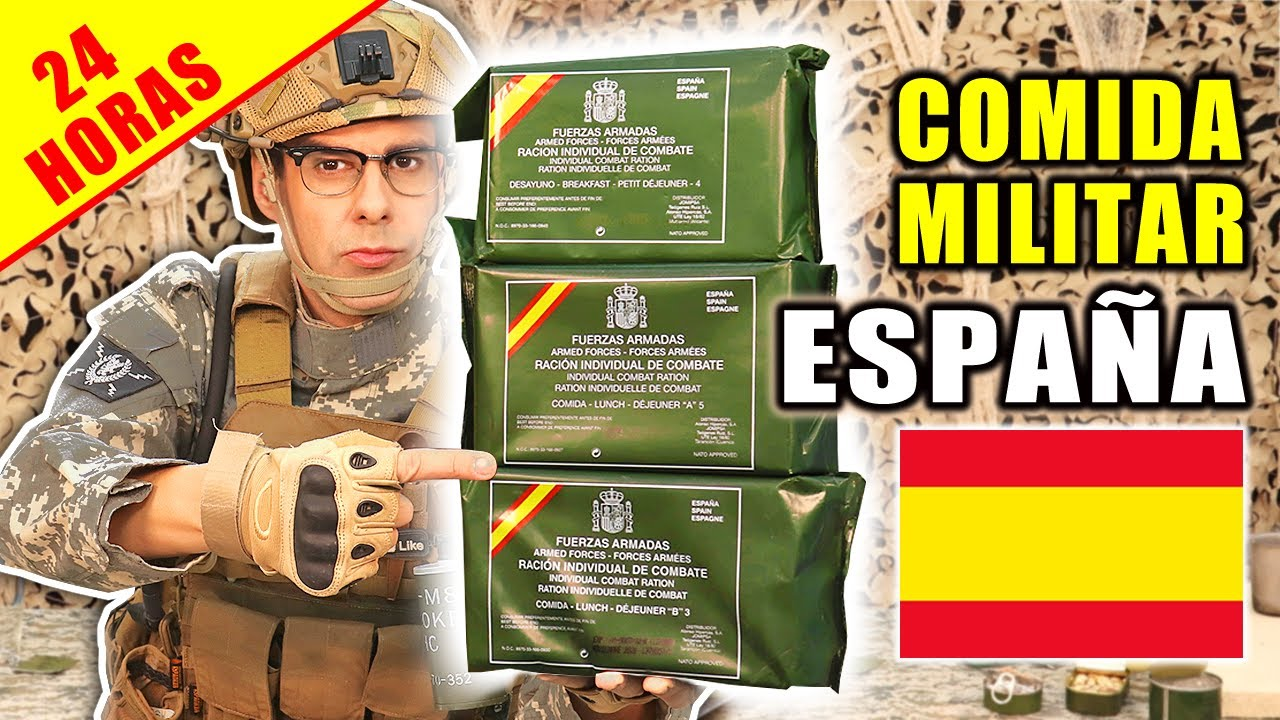 Probando COMIDA MILITAR de ESPAÑA 24 Horas | MRE Española | Curiosidades con Mike