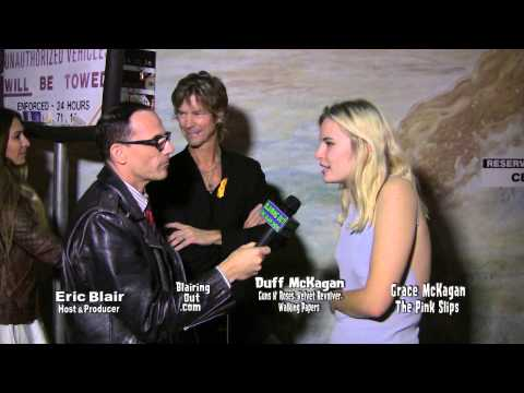 Duff & Grace McKagan W Eric Blair have fun @ Rock Against MS event