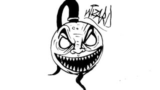 How to Draw a Evil Genie  face   - graffiti character
