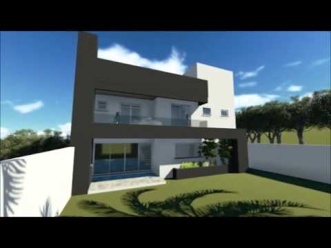 Plan de maison moderne avec 3 chambres code 044 youtube for Maison moderne koedinger