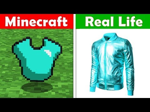 DIAMOND SHIRT REAL LIFE! Minecraft vs Real Life animation CHALLENGE