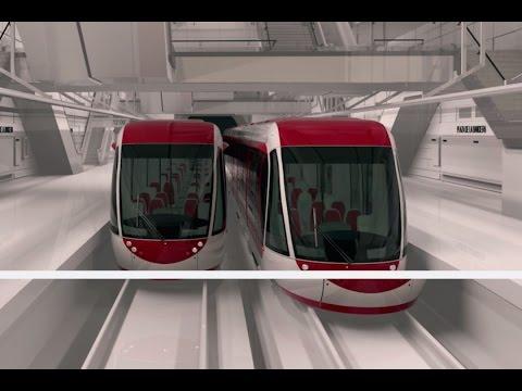 Construcción de la línea 3 del Tren Ligero