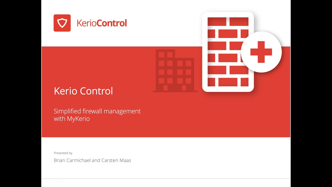 Kerio Control Simplified Firewall Management With Mykerio