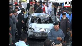AP footage after suicide bomber attacks vehicle, CCTV footage