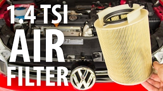 Simple how-to: Replace engine air filter, VW Golf (1.4 TSI)