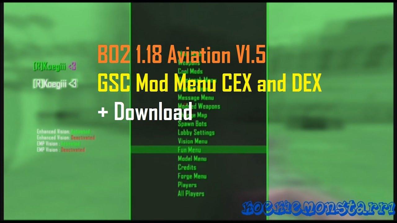 Cex mod menu bo2
