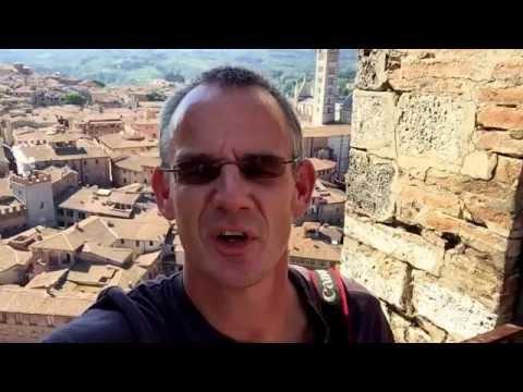 Vlog: Siena, Panorama vanaf Torre del Mangia. Piazza il Campo