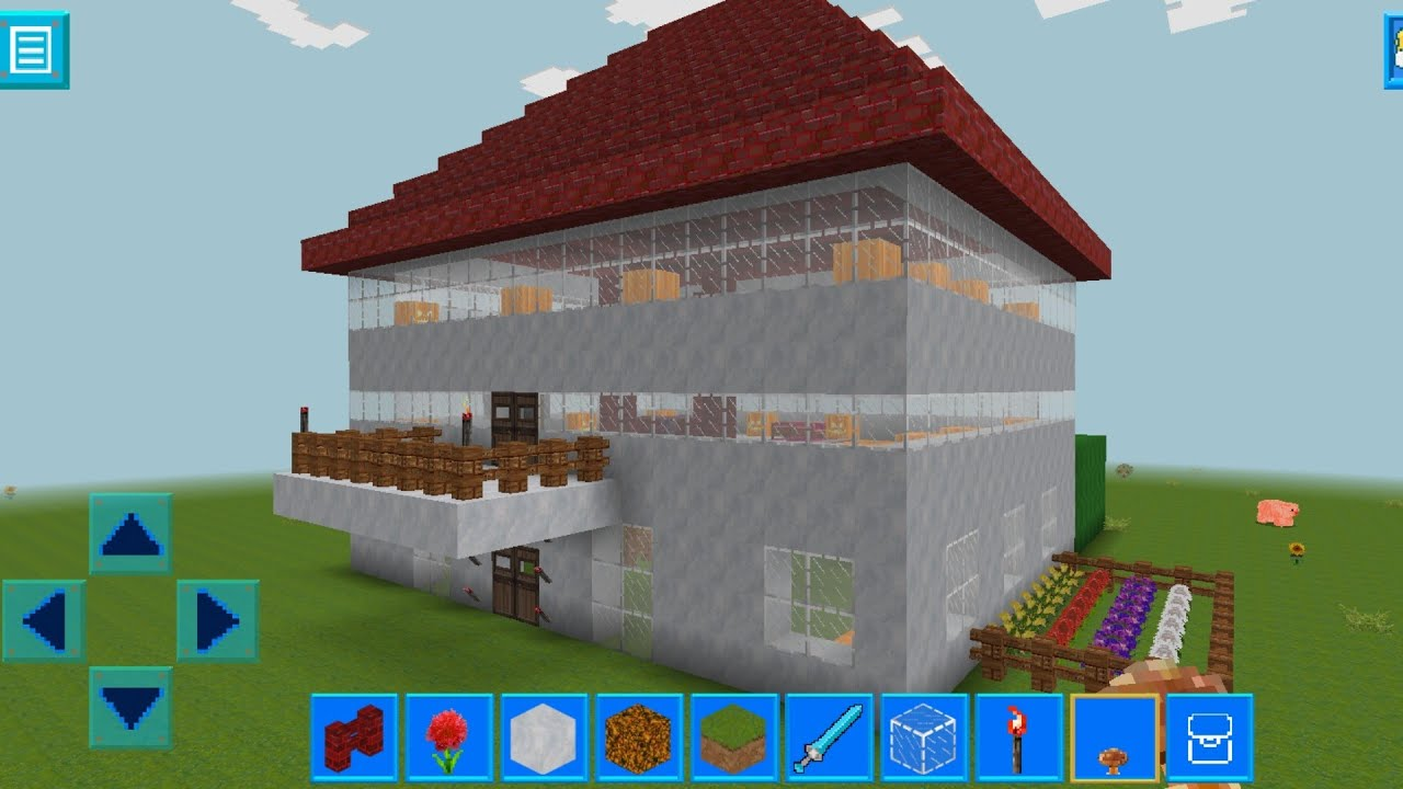 RealmCraft with Skins Export to Minecraft Gameplay #9 (iOS & Android)   Beautiful Home