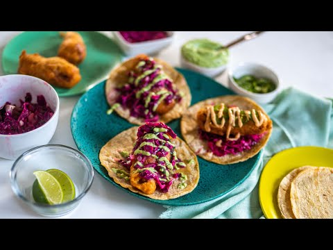 Mango Fish Tacos with Chipotle Slaw
