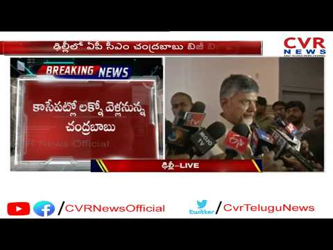AP CM Chandrababu Naidu Speech LIVE | Delhi | CVR News