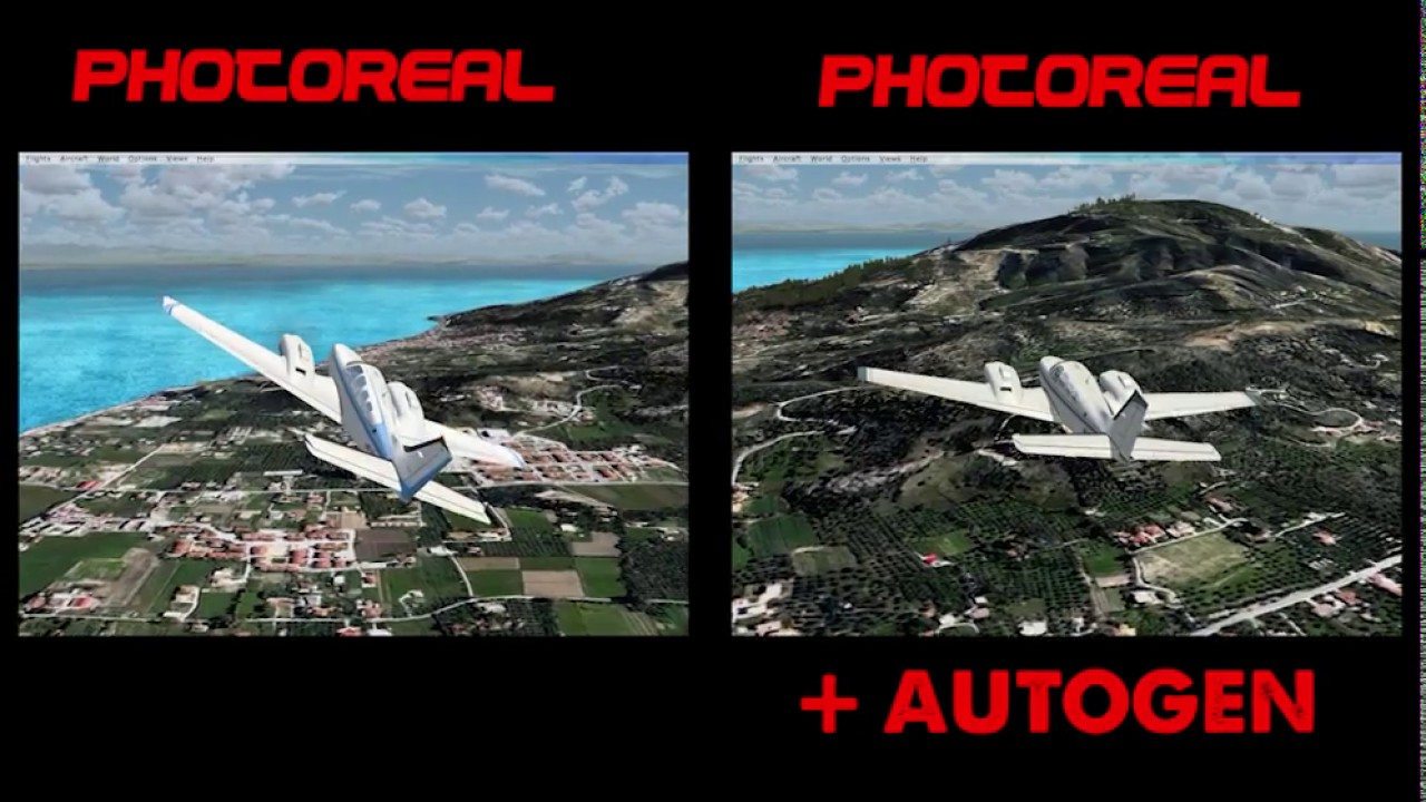 [FSX] Zante Photoreal Scenery with and without autogen (work in progress)