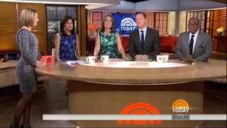 Dylan Dreyer - side view  - sparkly dress and high heels - slow motion - January 2, 2015