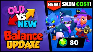 OLD vs NEW! Balance Changes + NEW SKINS COST Revealed | Brawl Stars Halloween Update