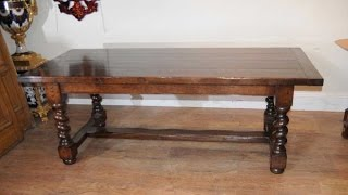 Oak Refectory Table Farmhouse Barley