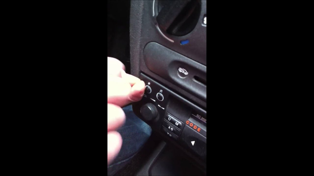 Opel corsa b radio ausbau youtube
