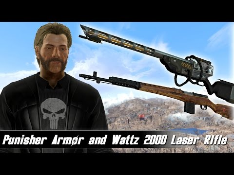 Fallout 4 Mods Week 53 - Punisher Armor and Wattz 2000